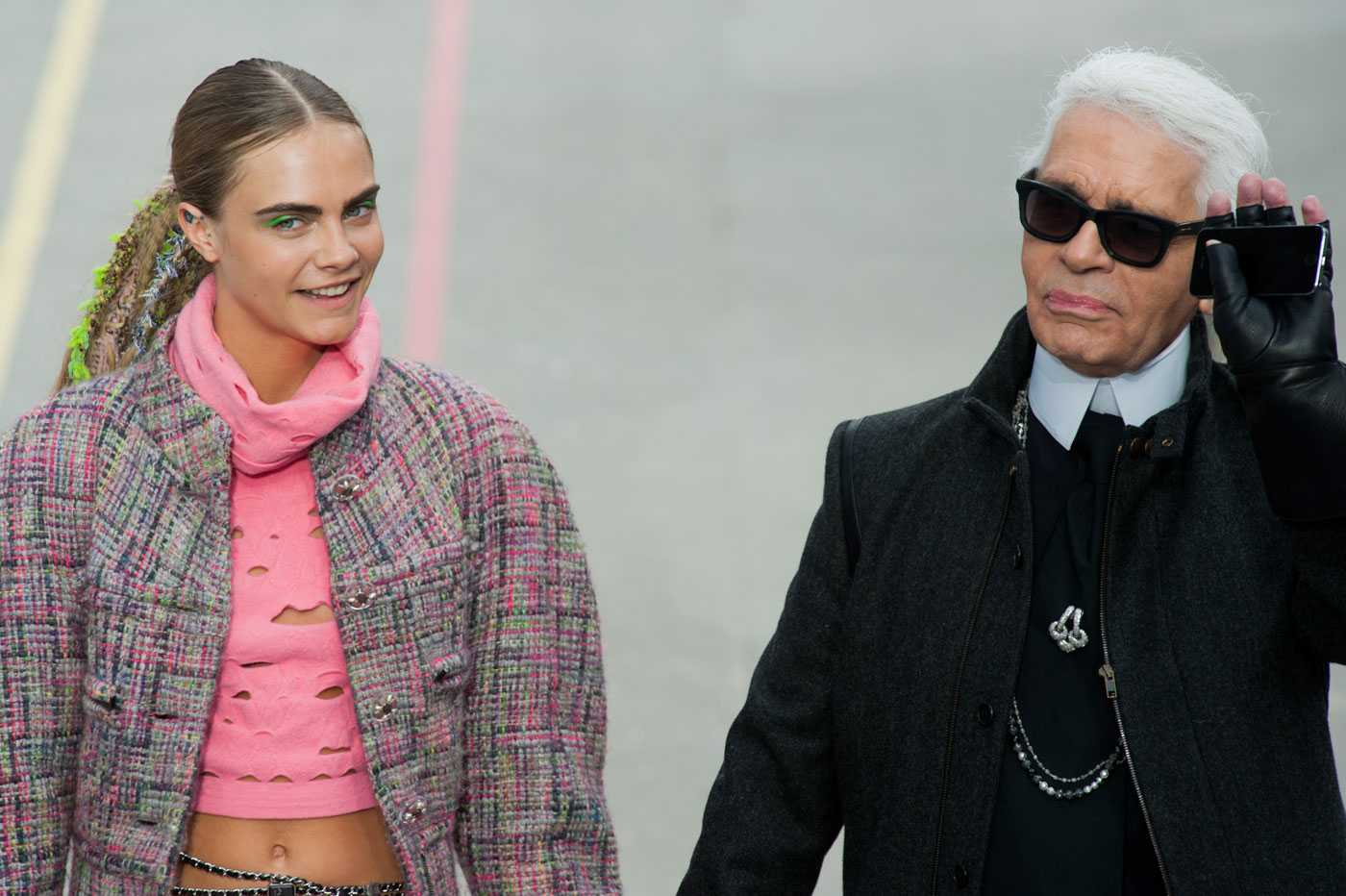 Chanel show Fall/Winter 2014 collection during Paris Fashion Week