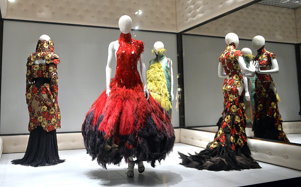 """Savage Beauty"" exhibition of McQueen's Work at the Victoria & Albert Museum in 2015. Photo via Anthony Harvey."