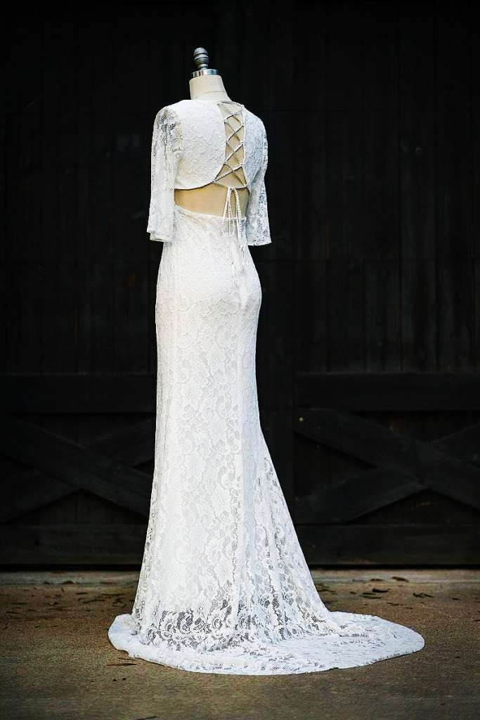 Wedding Gown with Impressive Back